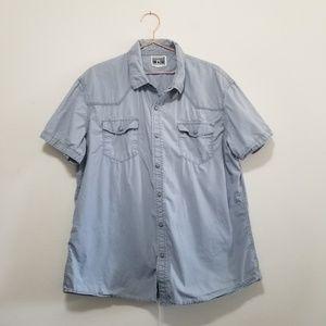 Converse pearl snap short sleeve dress shirt